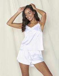 Ladies Satin Cami Short Pyjamas